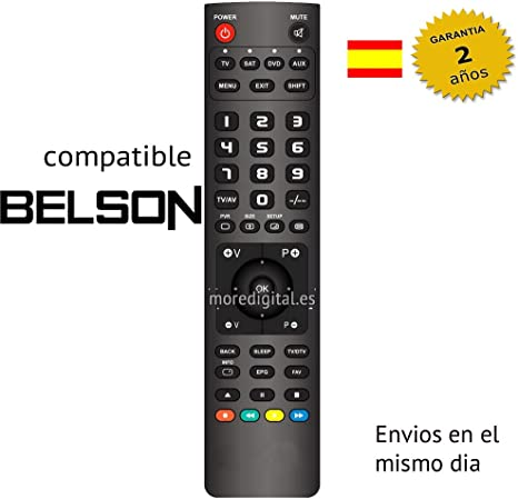 Mando a Distancia Especifico para Television TV Sat DTT BELSON: Amazon.es: Electrónica