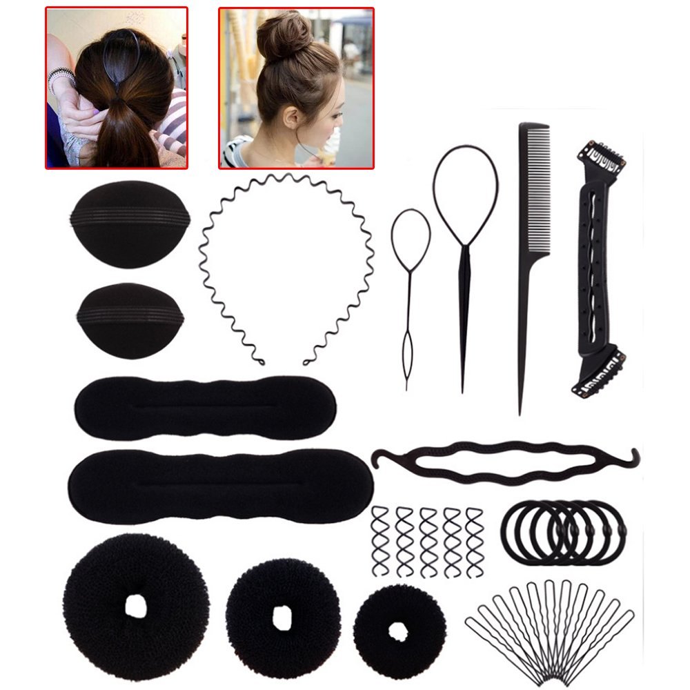 Amazon 15 Pcs Hair Styling Accessories Kit For Hair Style Buns