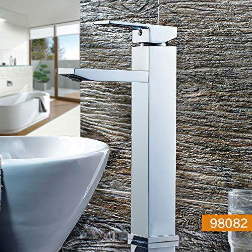 98082 Decorry Washbasin Counter Basin Faucet Hot and Cold Copper Bathroom Vanities Vanity Basin Faucets, 98252