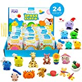 Dear Deer 24 Colors Magic Modeling Clay Ultra Light Air Dry Clay DIY Clay Craft Kit with Tools for Kids