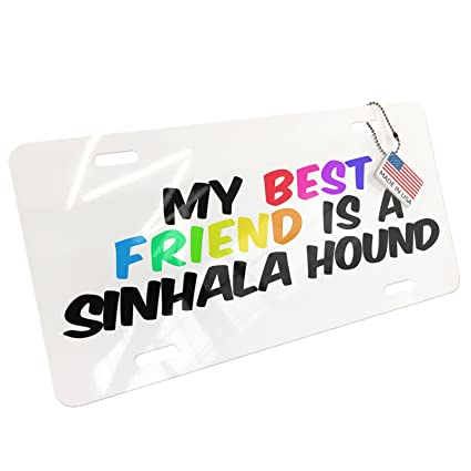 Amazon com: NEONBLOND Metal License Plate My best Friend a Sinhala