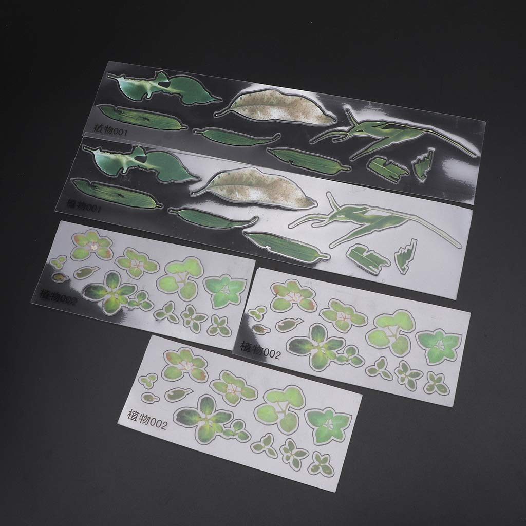 Lote de 5 Pegatinas de Resina epoxi Transparente para Manualidades rryilong