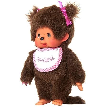 Monchhichi 25555 - Peluche (20 cm), diseño de niña, color rosa: Amazon.es: Juguetes y juegos