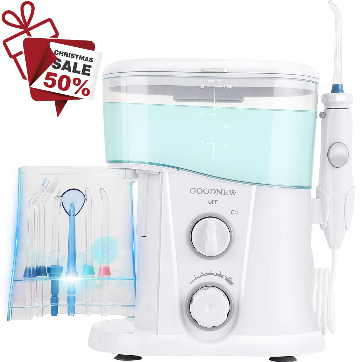 GOODNEW Leak-Proof Large Capacity Electric Quiet Design Water Dental  Flosser for Family,Dentist