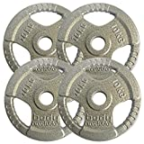 """Body Revolution Tri Grip Olympic Weight Plates - Cast Iron Discs for 2"""" 50mm Bars (1.25kg - 25kg)..."""