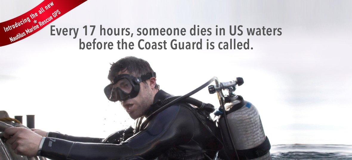 Nautilus LifeLine Marine GPS Rescue Radio w/ free Coil Lanyard by Nautilus Lifeline