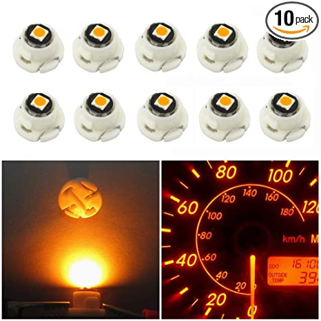 10pcs T4.7 2-SMD LED Bulb Dash Climate Control Instrument Interior Light White