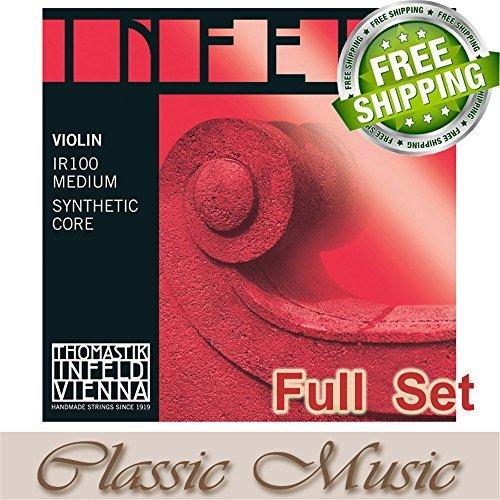 Classic Music Thomastik Infeld-Red (IR100) Violin Strings Full Set 4/4 Ball End IR1-5671