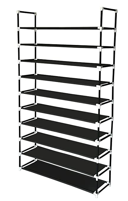 Superieur Sodynee 50 Pairs 10 Tier Shoe Rack Shoe Organizer Shoe Storage Shoe Shelves  Cabinet Stackable