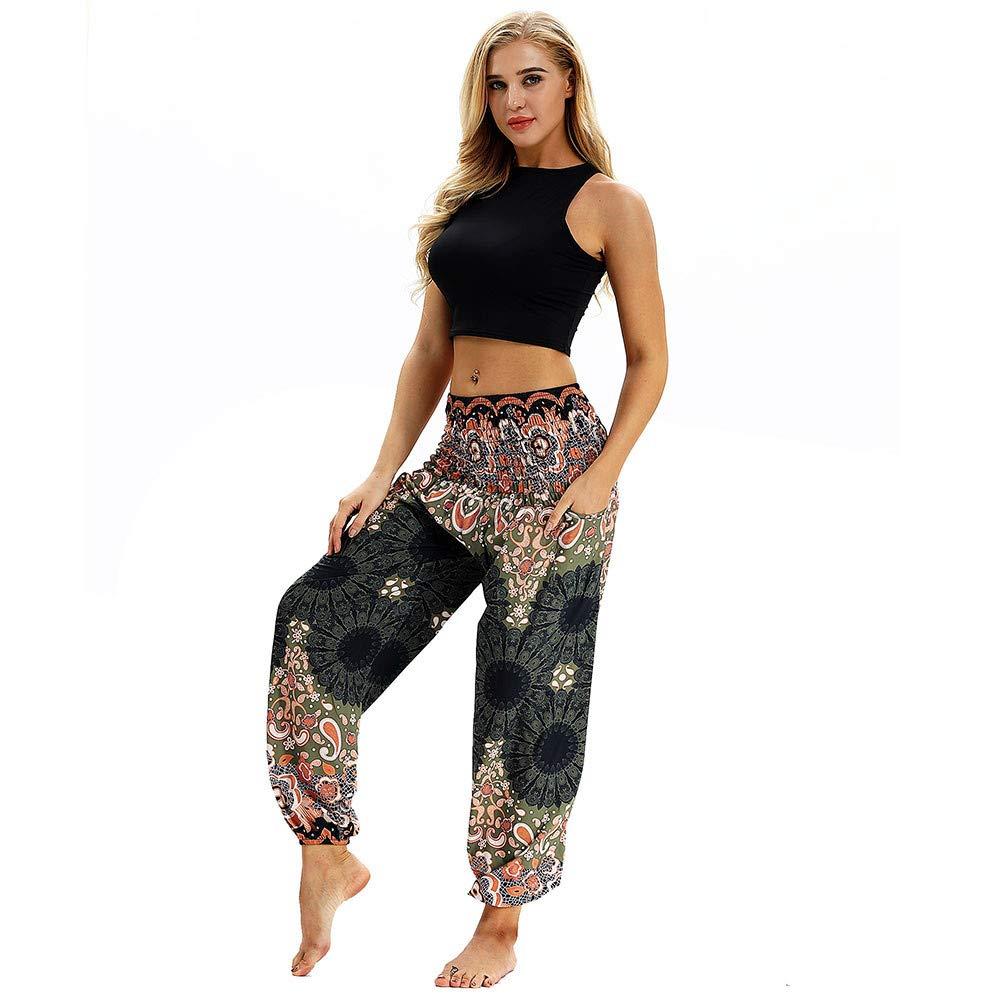 Amazon.com: Women Boho Yoga Pants Hippy Trousers Baggy ...