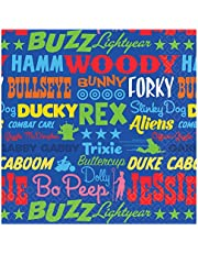 """""""Toy Story 4"""" Blue Printed Beverage Party Napkins, 5"""" x 5"""", 16 Ct."""