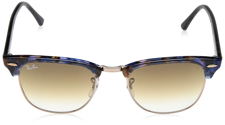 ac7edcdb046 Ray-Ban Clubmaster Sunglasses Black on Purple - RB3016 110371 51 RB3016  110371 51  Amazon.ca  Clothing   Accessories