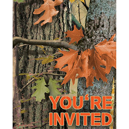 Creative Converting 895676 Hunting Camo Invitations, One Size,