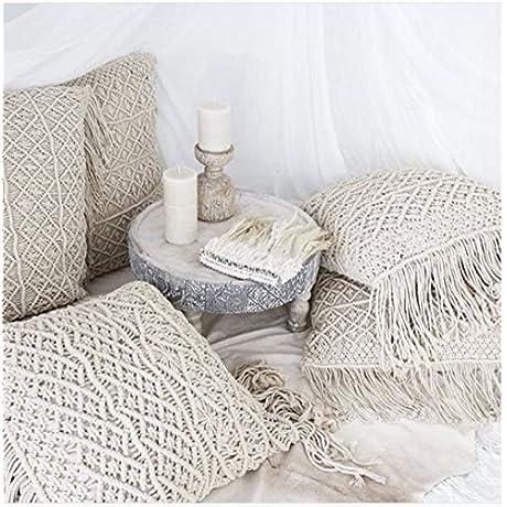 New Bohemian 1 Set Of 5 Pcs Decor Macrame Boho Decor Home Room Cushion Pillow Cover