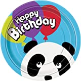 Panda Birthday Dinner Plates, 8ct