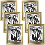 gold picture frames Icona Bay 8x10 Picture Frame (6 Pack, Gold), Gold Photo Frame 8 x 10, Wall Mount or Table Top, Set of 6 Elegante Collection