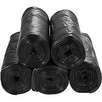 ULTNICE 100pcs Garbage Bags Bathroom Trash Can Bin Liner Plastic Bags for home office kitchen Black