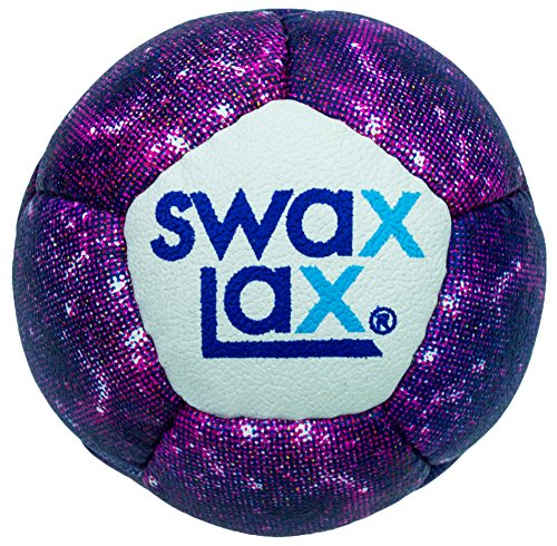 Swax Lax Lacrosse Training Ball - Same Size and Weight as Regulation Lacrosse Ball but Soft - No Rebounds, Less Bounce (La Galaxy Training)
