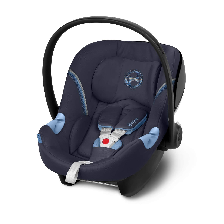 Navy Blue CYBEX Gold Babyschale Aton M Ab Geburt bis ca 13 kg 18 Monate Inkl Neugeboreneneinlage Max