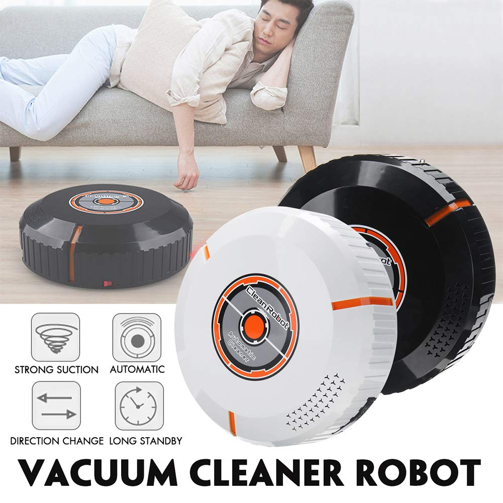 Robotic Vacuum Cleaner, with Mop and Water Tank High Suction, Super Thin, Extremely Quiet, Upgraded Auto Charging/Strong Suction/Infrared Sensor/Drop Sensing Sweeping Mopping (Black) by Carole4 (Image #6)