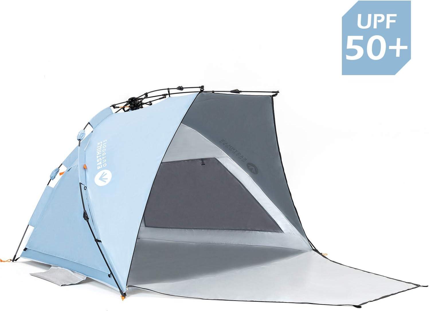 Easthills Tienda de campa/ña para Playa con protecci/ón Solar UPF 50 Porche con Cremallera extendido Incluido Extragrande