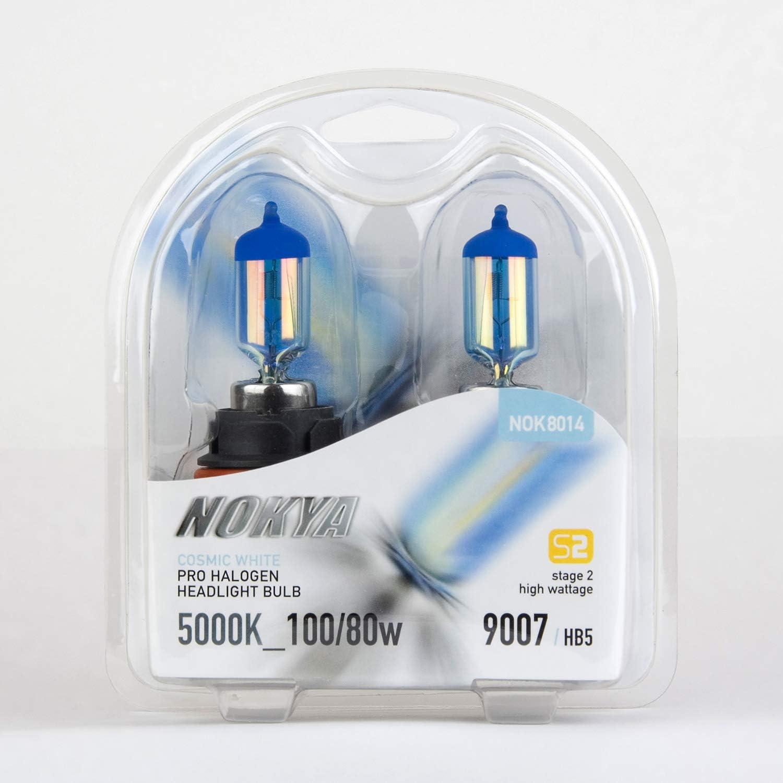 Nokya 9007 Cosmic White S2 Low Beam Headlight Halogen Light Bulb 1 Pair NOK8014