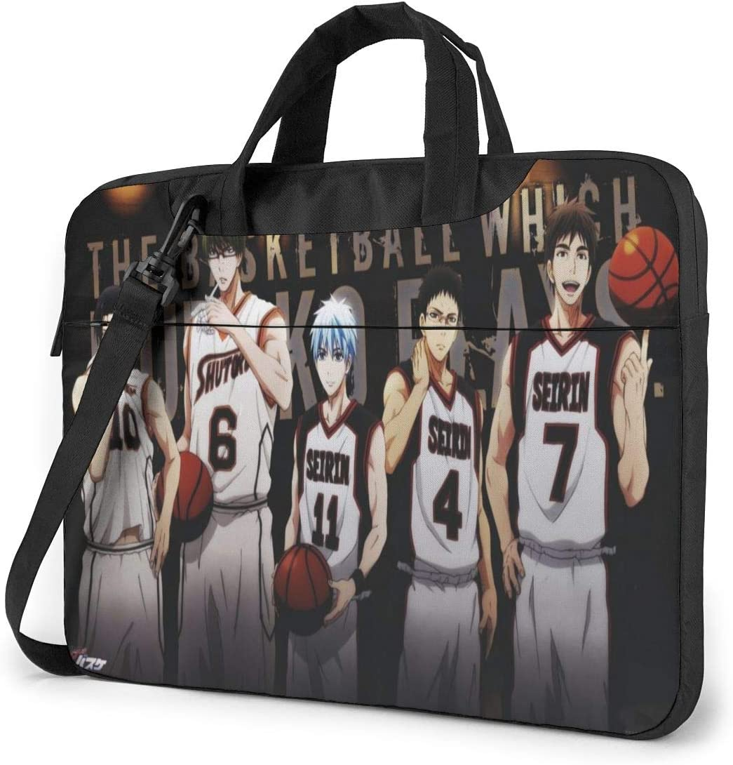 Kuroko's Basketball Laptop Shoulder Messenger Bag,Shockproof Laptop Briefcase Fits For13 Inch Laptop and Tablet,in Fashion Work