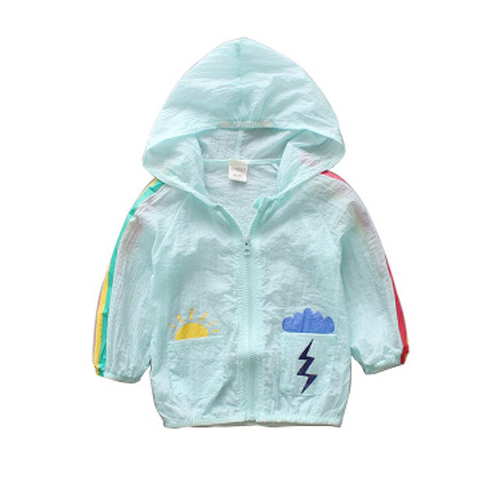 ANJUY Baby Sun Pattern Sunscreen Apparel Kid Hooded Outerwear Jacket Clothes