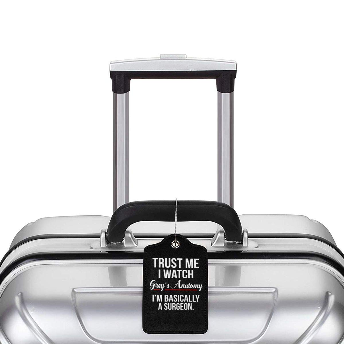 Trust High End T Leather Luggage Tag Travel ID Label For Baggage Suitcase