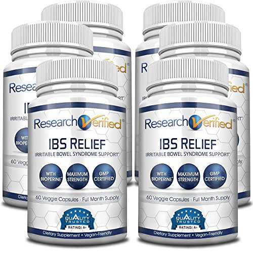 Research Verified IBS Relief: Fast, Safe, Effective Relief from Irritable Bowel Syndrome  With Bioperine, Natural Digestive Enzymes to Aid Digestion and Reduce Abdominal Discomfort,360 Vegan Capsules