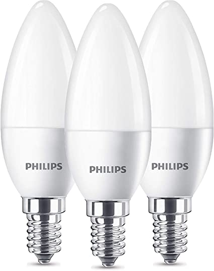 Philips SET 3x Glühbirne LED Kerze E14 5.5W 2700K warmweiß 470 lm