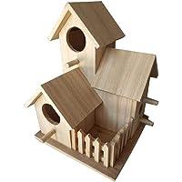 Casa De Madera Para Pájaros Con Jardín Jerarquía