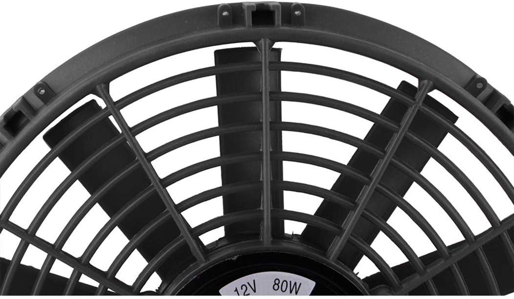 Fansport Voiture Ventilateur De Radiateur Universel 12V 80W Ventilateur /éLectrique Ventilateur De Refroidissement Automatique Voiture Ventilateur Mince