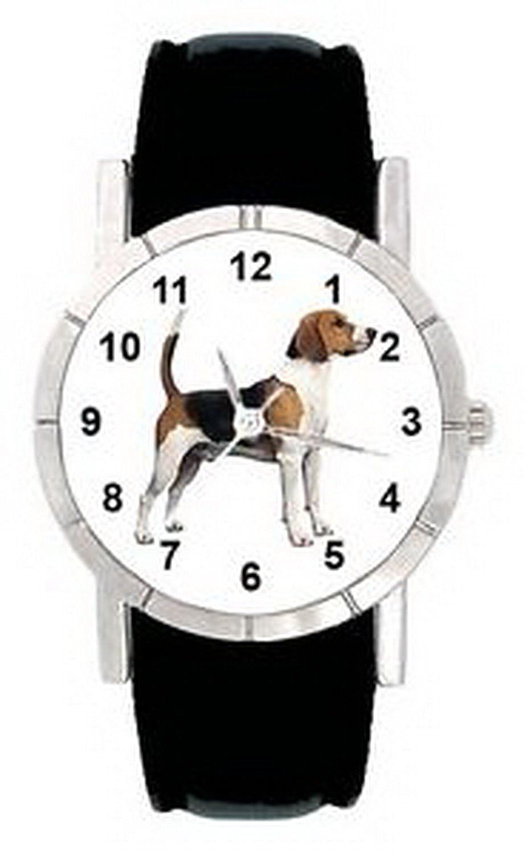 jwl0560ビーグル犬メンズレディース本革防水クオーツ腕時計 B01N4EMI2K