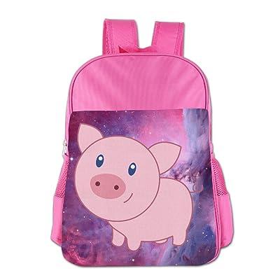 Cute Cartoon Pig Print School Backpacks For Girls Boys Kids Elementary School Bags Bookbag