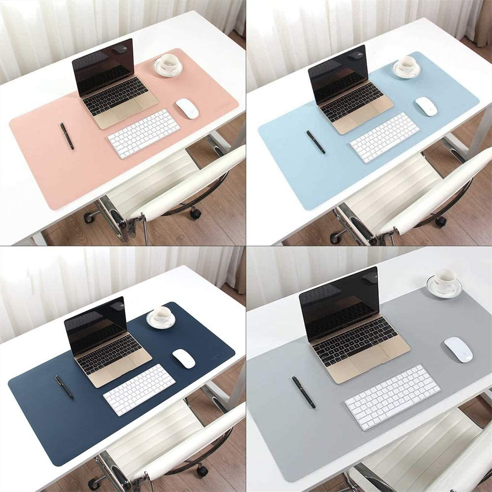 35x18inch g YUMUO Leather Desk Pad,Microfiber Mouse Mat Desk Protector Waterproof Mat Writing Pad Desk Mat for Office and Home
