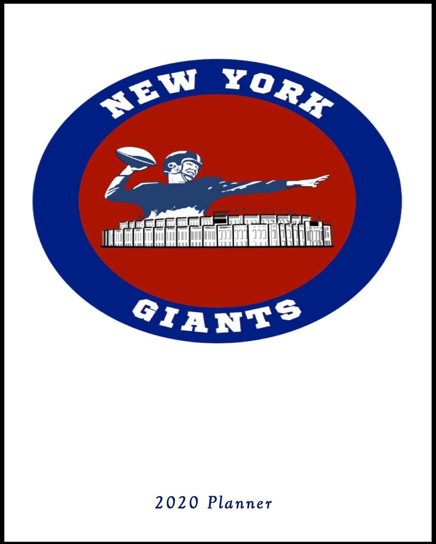 New York Giants Schedule 2020.New York Giants 2020 Planner Calendar Agenda Daily Monthly