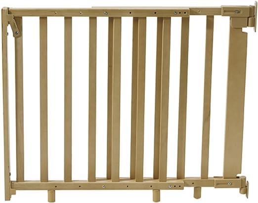 Barrera de seguridad para escaleras (Madera Natural, incluye ...