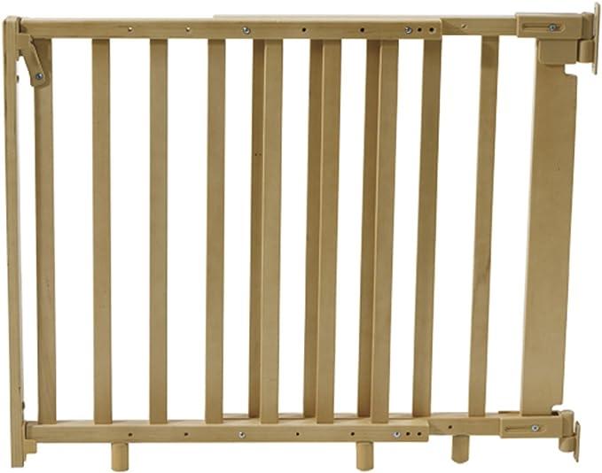 Barrera de seguridad para escaleras (Madera Natural, incluye tornillos y tacos • Baby Escaleras rejilla para puerta Natural: Amazon.es: Productos para mascotas
