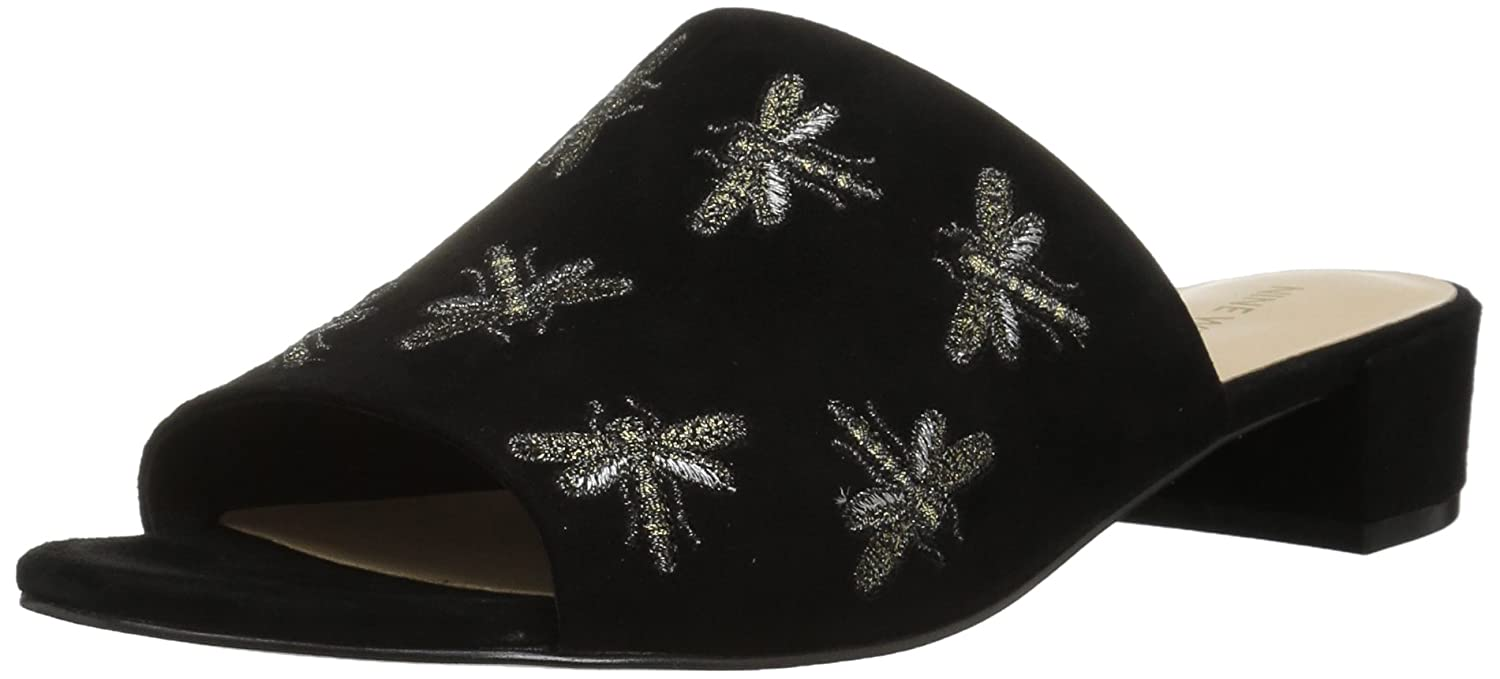 Nine West Women's Rahas Suede Slide Sandal B06ZYHTL2S 7.5 B(M) US|Black