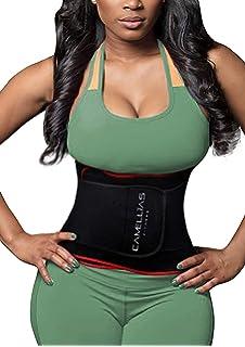 765a30f81b7b5 DeepTwist Waist Trainer Belt - Adjustable Waist Trimmer Belly Fat Burner  Slimming Body Shaper…