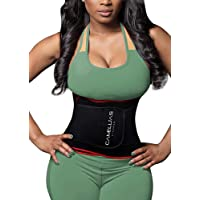 Camellias Waist Trainer Belt - Adjustable Waist Trimmer Belly Fat Burner Slimming Body Shaper for Women Men