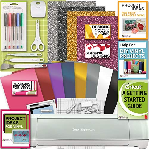 - Cricut Explore Air 2 Machine Bundle Iron On Vinyl Pack Tools Pen Design Beginner Guide