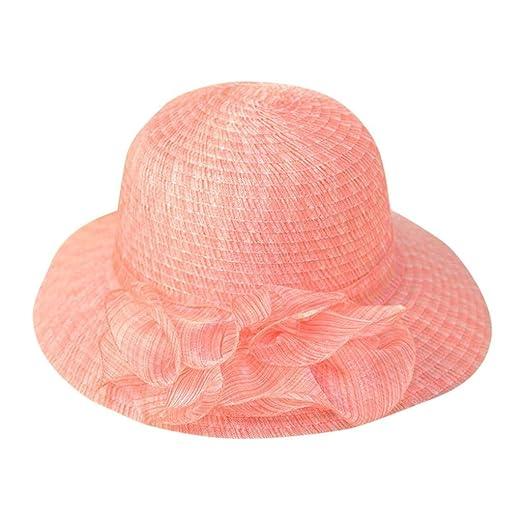 7bd70807fd6fe URIBAKE Women Beach Straw Hat Gangster Cap Jazz Sunshade Panama ...
