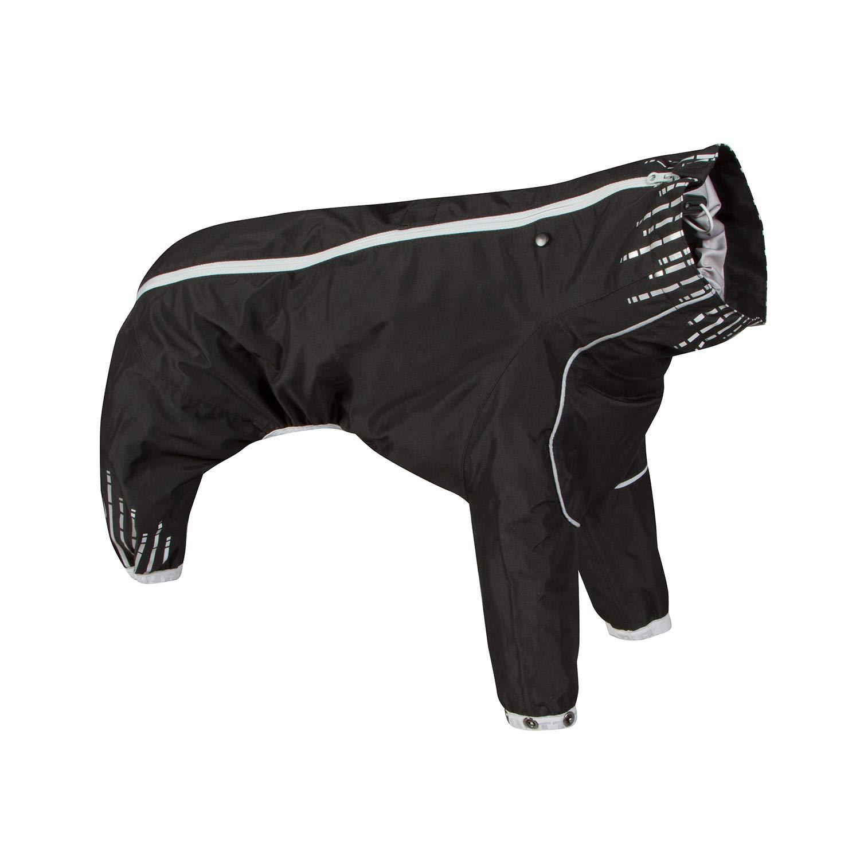 Hurtta Downpour Suit, Weatherproof Dog Rain/Snow Coat, Raven, 18M