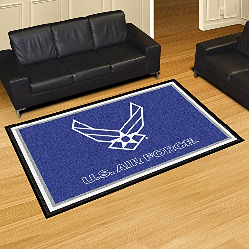 Fanmats Home Indoor sports Team Logo Mat AIR FORCE 5x8 Rug (60