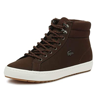 6ba5f1356 Amazon.com  Lacoste Men s Straightset Insulac CAM Leather Trainers ...