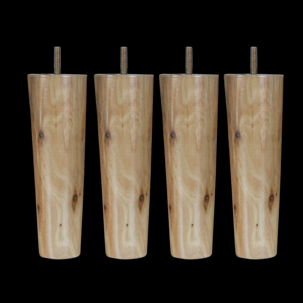 20cm Natural 6.5 Desconocido 4pcs Sillas de Dran Tama/ño Patas de Sof/á Tabla Forma de Cono Eucalipto Muebles Maciza de Madera 4.5