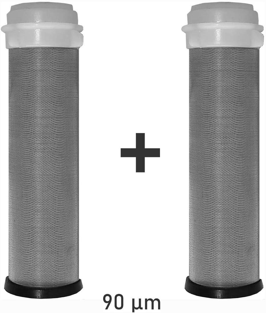 FD188 Diametro Nom 25mm FERDOM FD179 Ricambio FD185 Maglia//Filtro In Acciaio Inox 90 Micron Anche Per Altri Pre-Filtri Simili. H 97mm Set Da 2 Pezzi FD178 Pre-Filtri; FD177 Per Ferdom