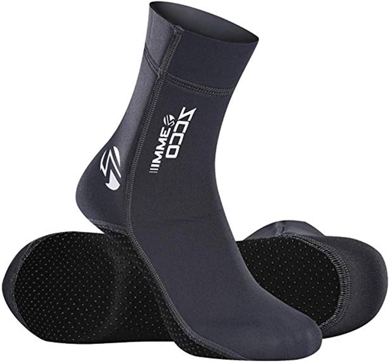 Camu Neoprene Water Fin Sock Diving Wetsuits Sock 3MM for Women Men Beach Socks Anti Slip Flexible for Snorkeling Surfing Swimming Sailing Diving Kayaking